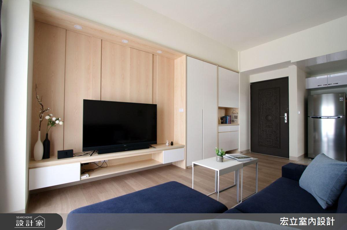 16坪新成屋(5年以下)_日式無印風客廳案例圖片_宏立室內設計_宏立_04之3