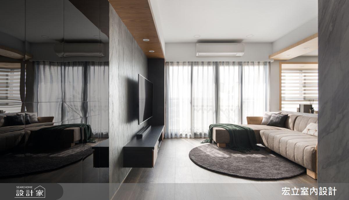 22坪新成屋(5年以下)_簡約風客廳案例圖片_宏立室內設計_宏立_05之1