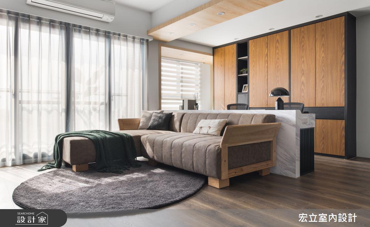 22坪新成屋(5年以下)_簡約風客廳案例圖片_宏立室內設計_宏立_05之2