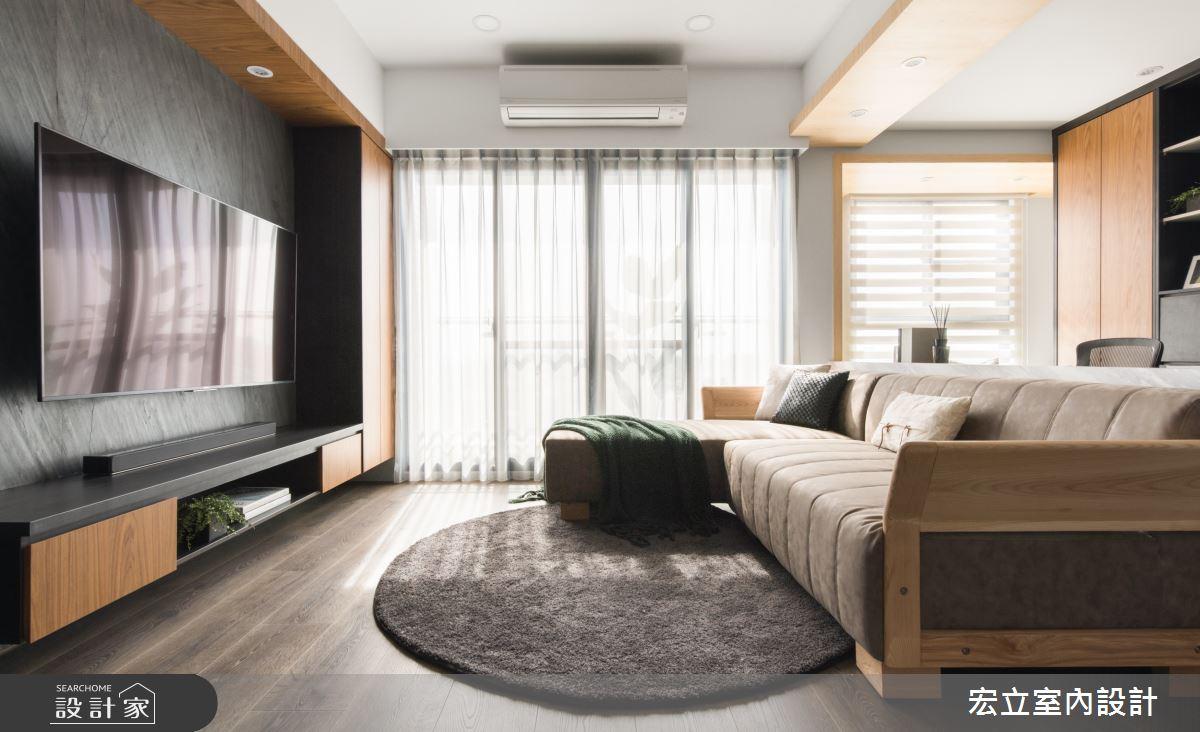 22坪新成屋(5年以下)_簡約風客廳案例圖片_宏立室內設計_宏立_05之4