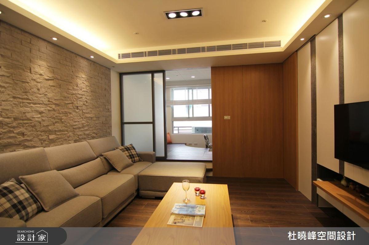 18坪新成屋(5年以下)_休閒風客廳和室案例圖片_杜曉峰澔漢空間設計_杜曉峰_01之3