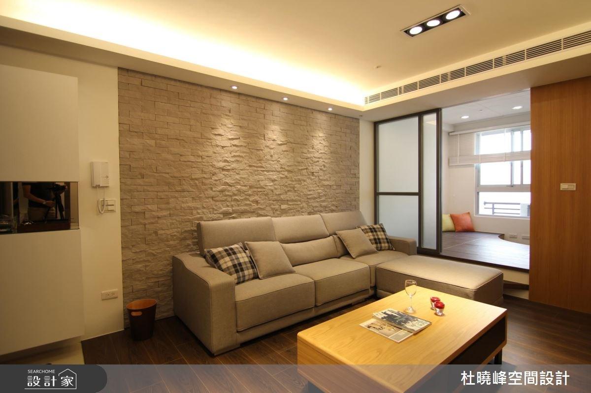18坪新成屋(5年以下)_休閒風客廳和室案例圖片_杜曉峰澔漢空間設計_杜曉峰_01之4