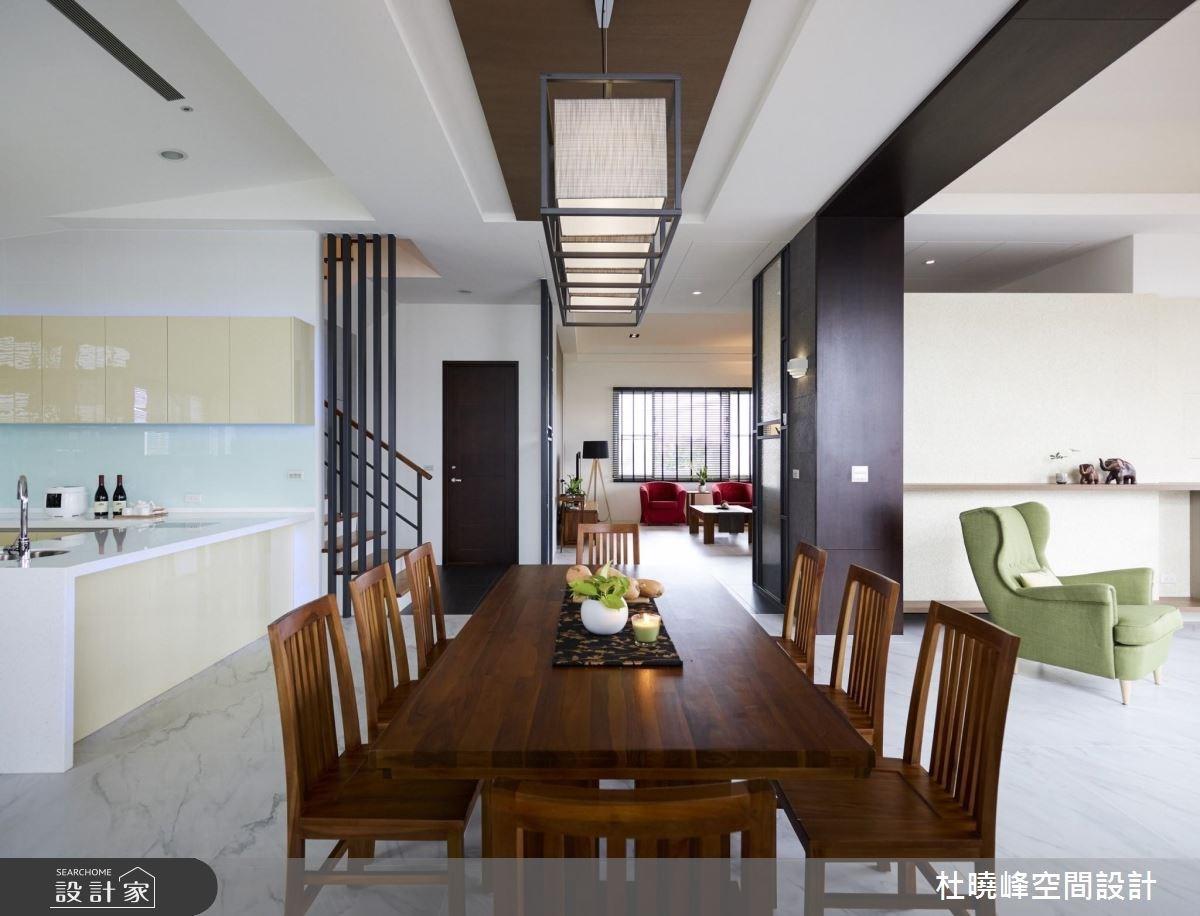 90坪新成屋(5年以下)_鄉村風客廳餐廳廚房案例圖片_杜曉峰澔漢空間設計_杜曉峰_11之3