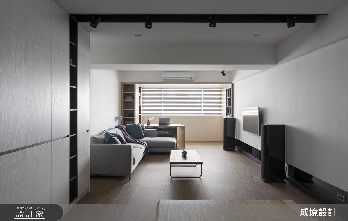 30坪老屋(16~30年)_現代風客廳書房案例圖片_成境設計_成境_03之4