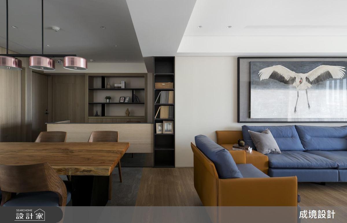 30坪新成屋(5年以下)_現代風客廳餐廳案例圖片_成境設計_成境_04之2
