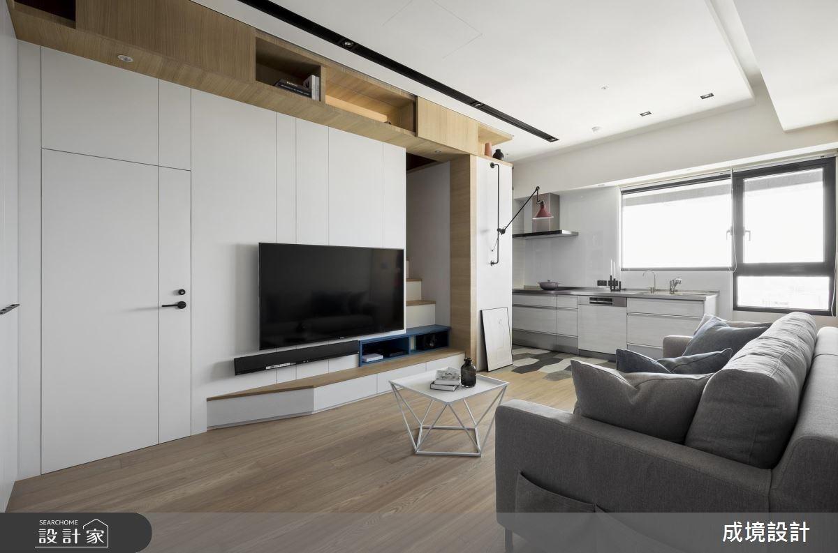 16坪老屋(16~30年)_北歐風客廳廚房案例圖片_成境設計_成境_05之4