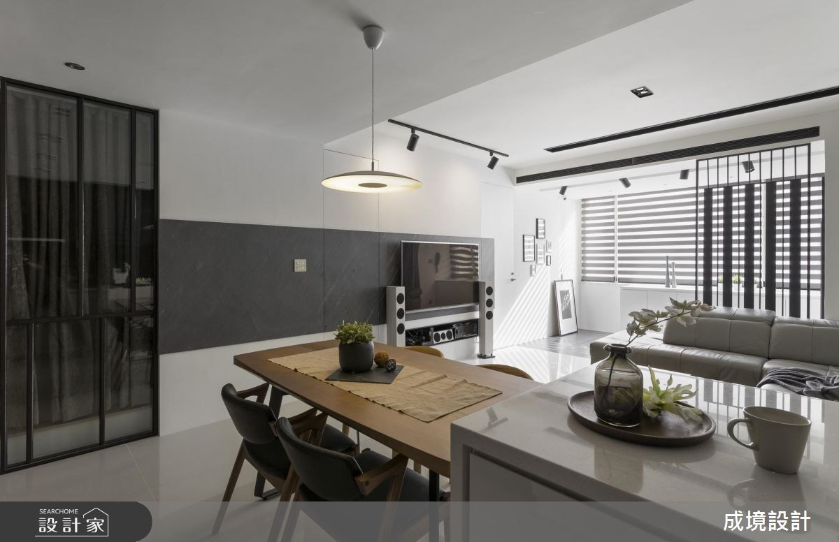 30坪老屋(16~30年)_現代風客廳餐廳案例圖片_成境設計_成境_08之4