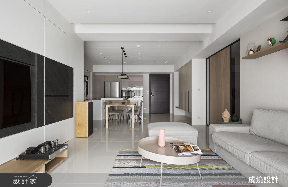 30坪新成屋(5年以下)_現代風玄關客廳餐廳案例圖片_成境設計_成境_09之3