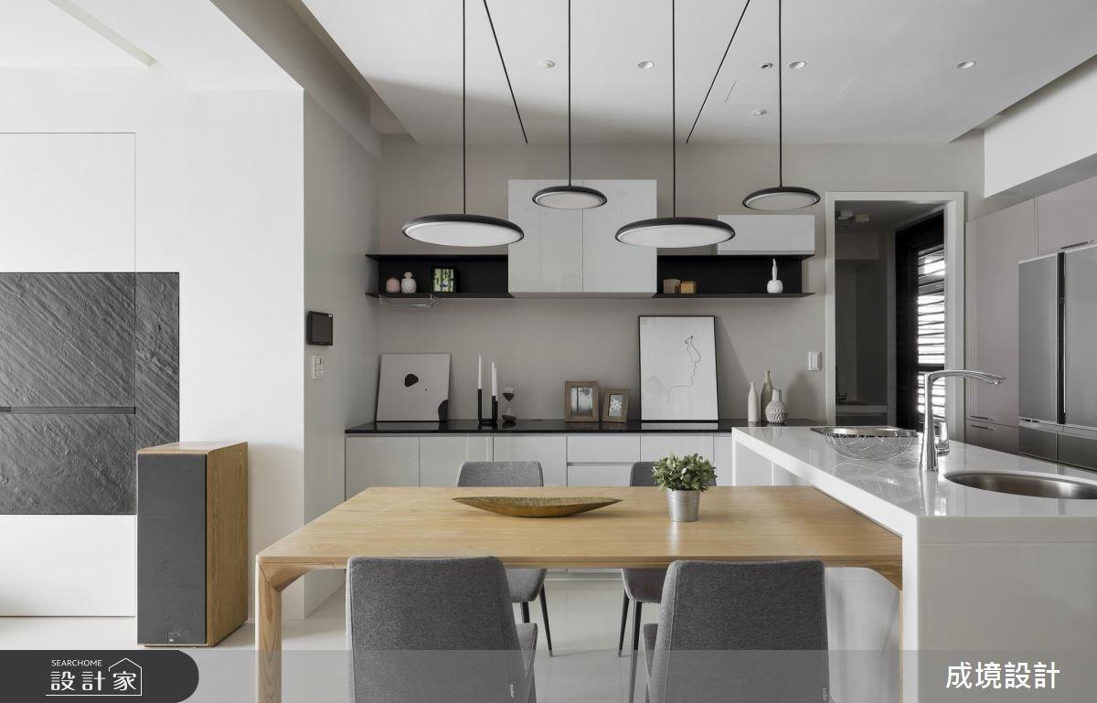 30坪新成屋(5年以下)_現代風餐廳廚房案例圖片_成境設計_成境_09之5