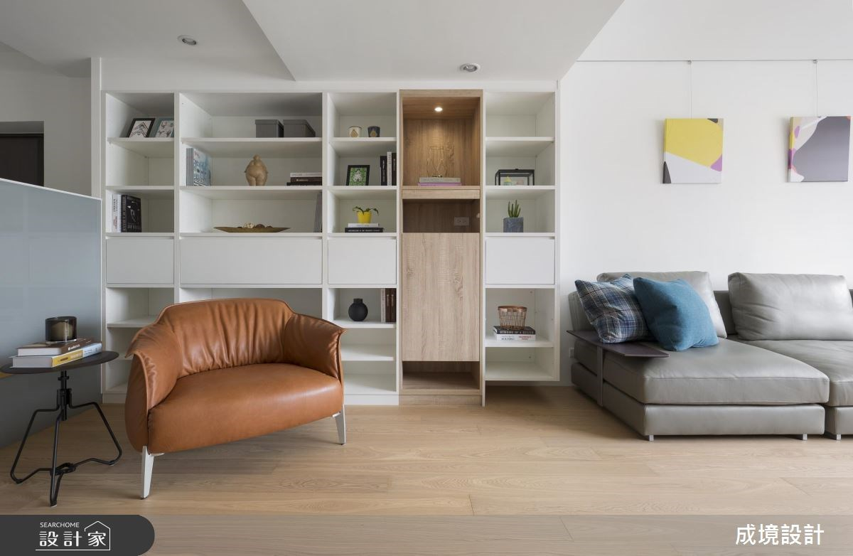 30坪老屋(16~30年)_北歐風客廳書房案例圖片_成境設計_成境_11之4