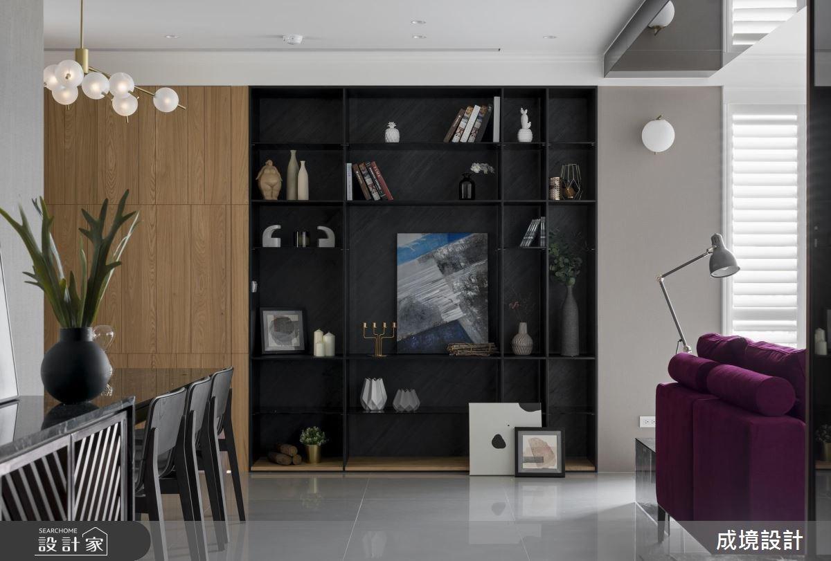 30坪新成屋(5年以下)_混搭風客廳餐廳案例圖片_成境設計_成境_12之2