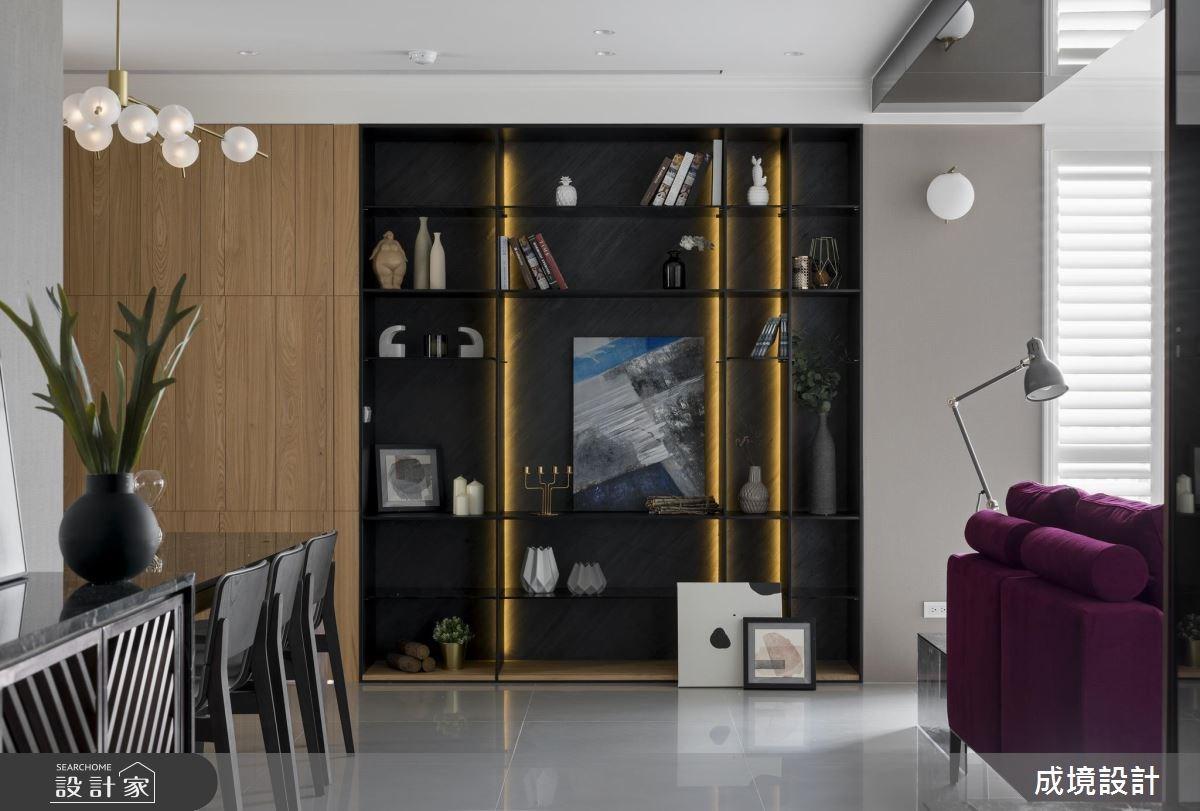 30坪新成屋(5年以下)_混搭風客廳餐廳案例圖片_成境設計_成境_12之3