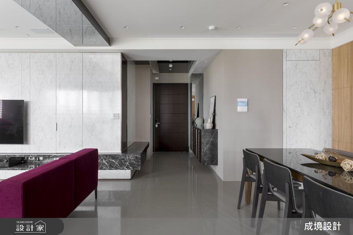30坪新成屋(5年以下)_混搭風玄關客廳餐廳案例圖片_成境設計_成境_12之4