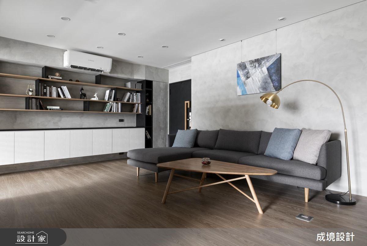 40坪中古屋(5~15年)_北歐風客廳案例圖片_成境設計_成境_15之3