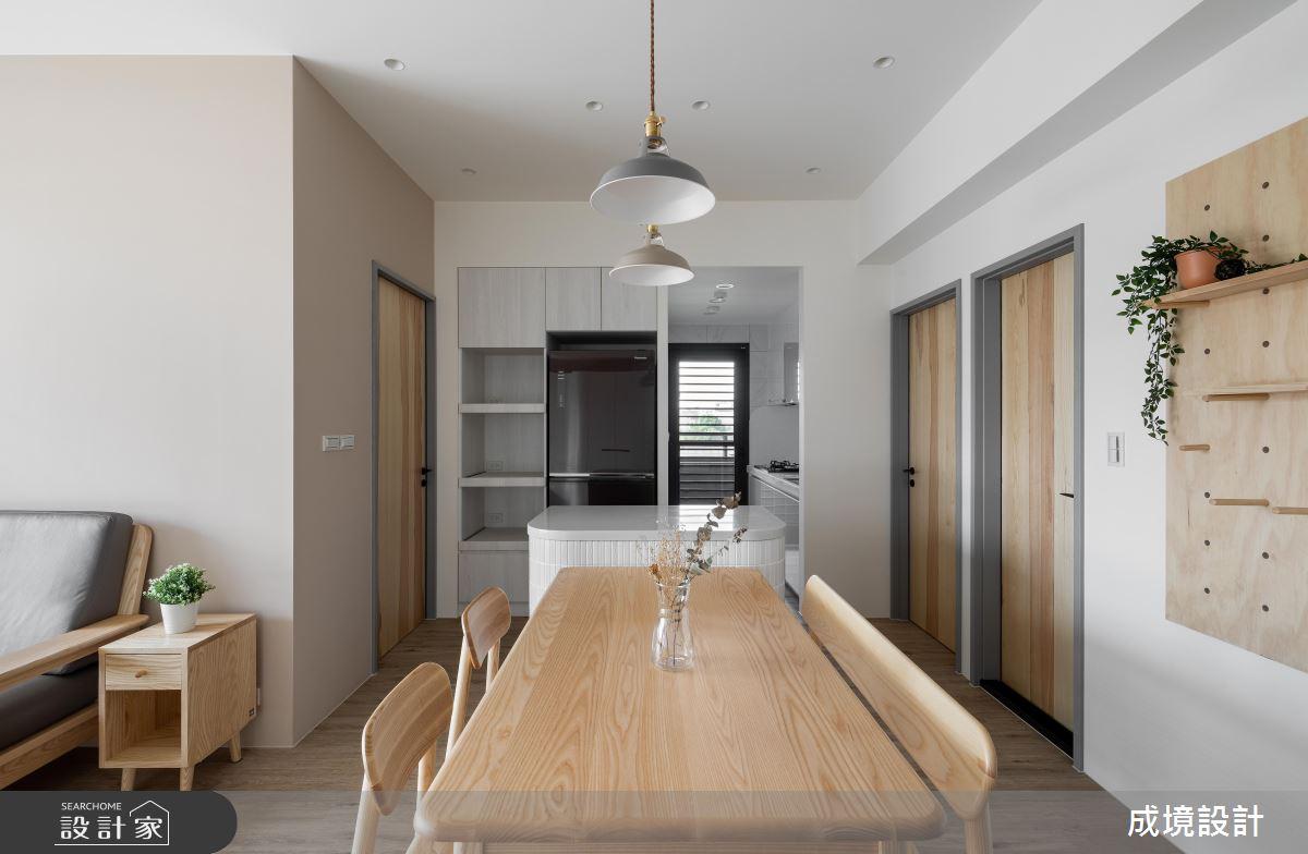 23坪新成屋(5年以下)_北歐風餐廳中島案例圖片_成境設計_成境_21之3