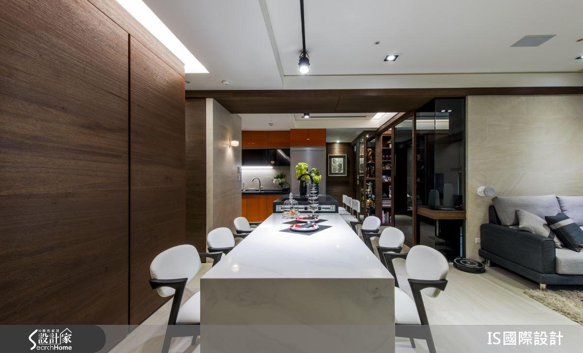 35坪老屋(16~30年)_現代風客廳餐廳廚房案例圖片_IS國際設計_IS_109之2
