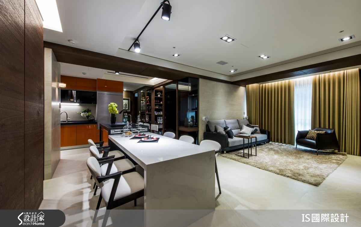 35坪老屋(16~30年)_現代風客廳餐廳廚房吧檯案例圖片_IS國際設計_IS_109之3