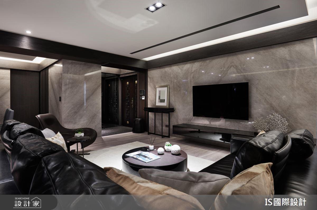 39坪新成屋(5年以下)_現代風客廳案例圖片_IS國際設計_IS_124之5