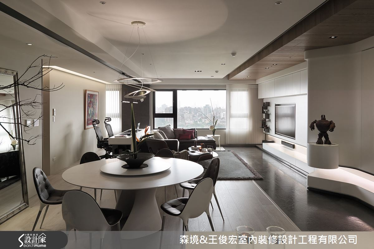 以流線美型設計 迎來更舒適的 45 坪現代宅