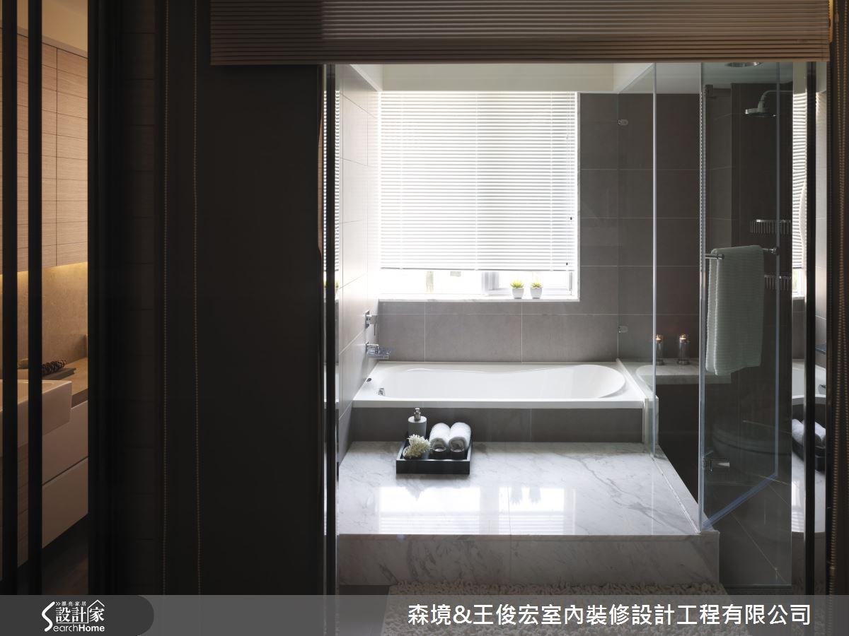 60坪新成屋(5年以下)_現代風浴室案例圖片_森境室內裝修設計工程有限公司/王俊宏建築設計諮詢(上海)有限公司_王俊宏_16之14