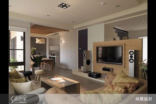45坪新成屋(5年以下)_休閒風客廳案例圖片_尚展空間設計_尚展_25之2