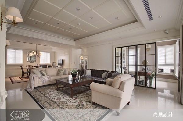 100坪新成屋(5年以下)_美式風客廳案例圖片_尚展空間設計_尚展_40之5