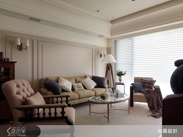 50坪新成屋(5年以下)_美式風客廳案例圖片_尚展空間設計_尚展_43之3