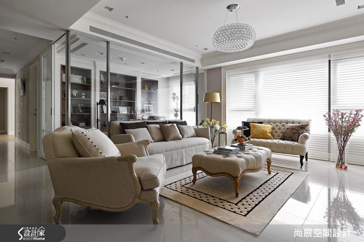 60坪新成屋(5年以下)_美式風客廳案例圖片_尚展空間設計_尚展_51之1