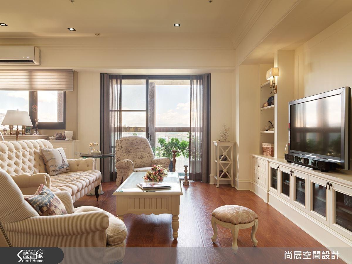 45坪新成屋(5年以下)_鄉村風客廳案例圖片_尚展空間設計_尚展_55之2