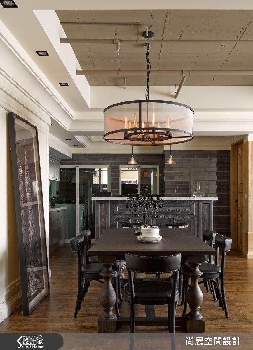 40坪新成屋(5年以下)_美式風餐廳吧檯案例圖片_尚展空間設計_尚展_59之4