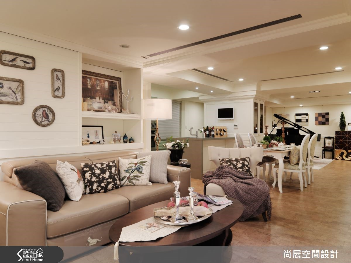 45坪中古屋(5~15年)_美式風客廳餐廳案例圖片_尚展空間設計_尚展_61之2