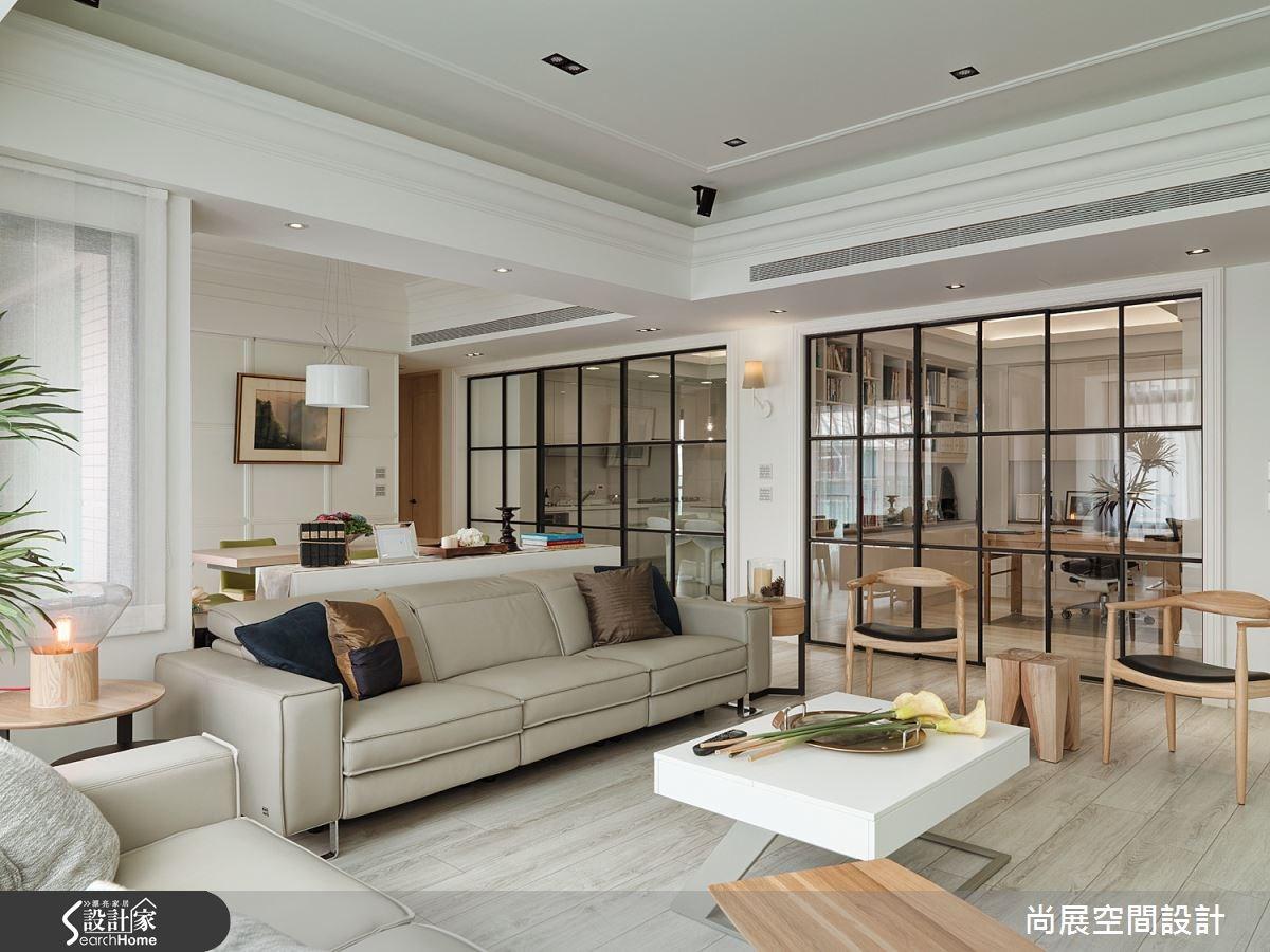 80坪新成屋(5年以下)_美式風客廳案例圖片_尚展空間設計_尚展_62之4