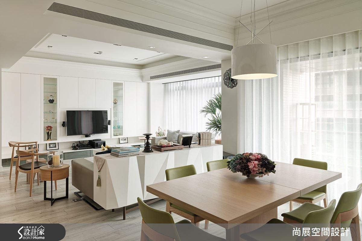 80坪新成屋(5年以下)_美式風客廳餐廳案例圖片_尚展空間設計_尚展_62之5
