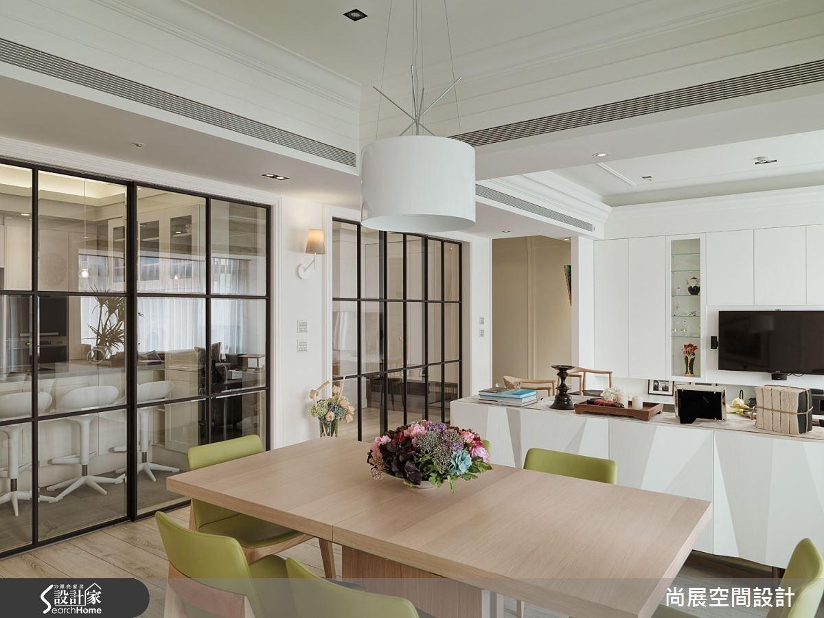 80坪新成屋(5年以下)_美式風客廳餐廳案例圖片_尚展空間設計_尚展_62之6