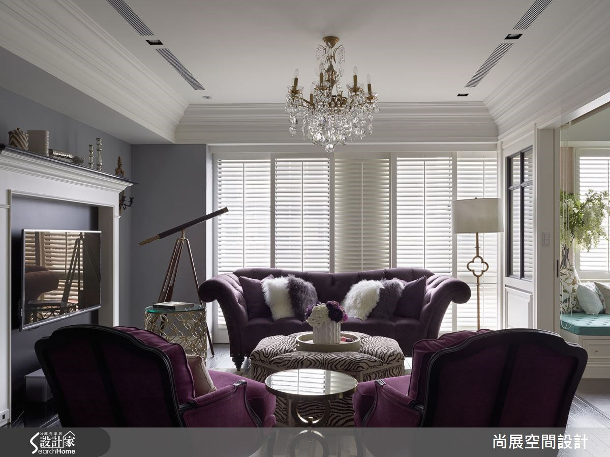 50坪新成屋(5年以下)_美式風客廳案例圖片_尚展空間設計_尚展_64之4