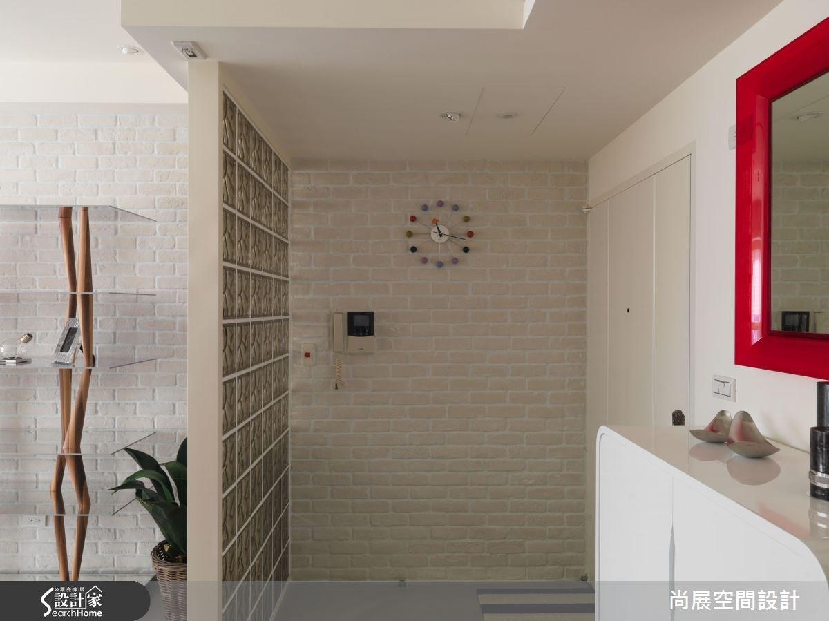 40坪新成屋(5年以下)_現代風玄關案例圖片_尚展空間設計_尚展_65之3