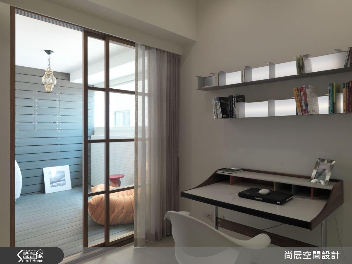 40坪新成屋(5年以下)_現代風書房案例圖片_尚展空間設計_尚展_65之9