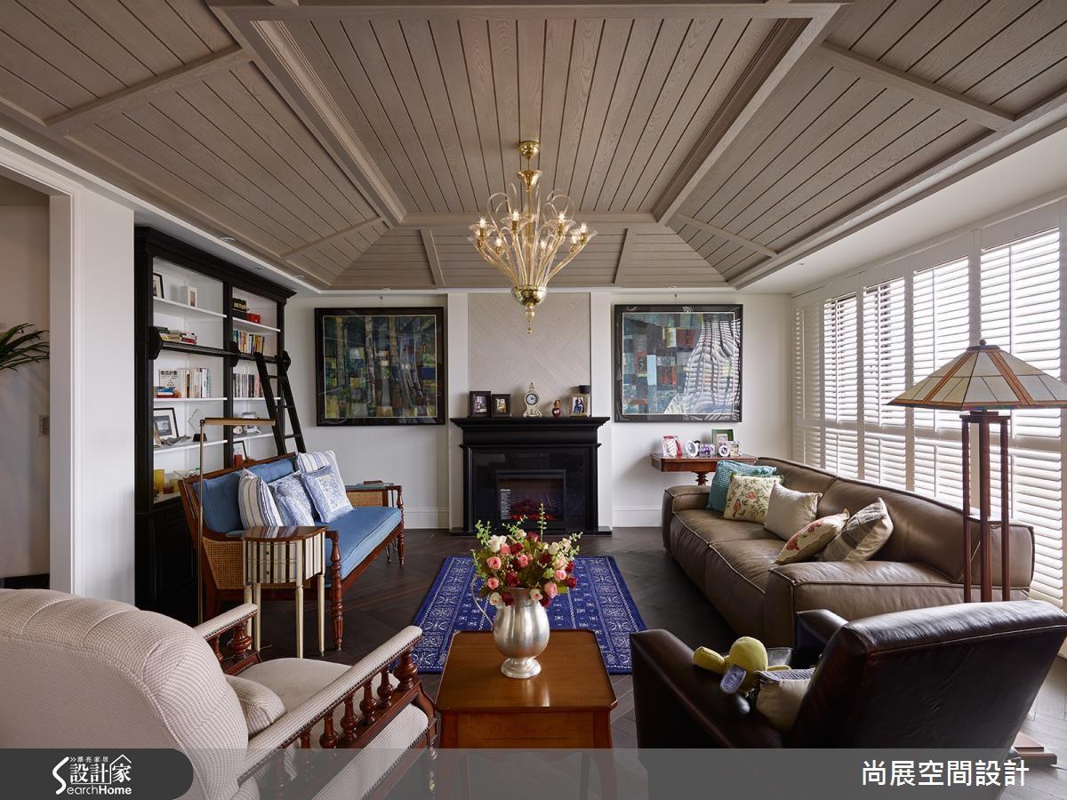 126坪新成屋(5年以下)_美式風客廳案例圖片_尚展空間設計_尚展_66之3
