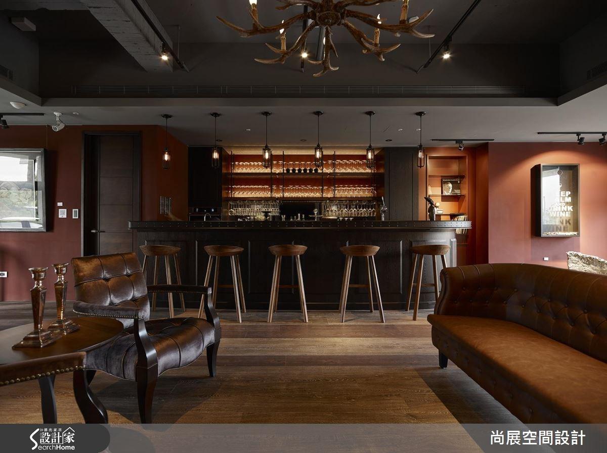 60坪新成屋(5年以下)_美式風客廳吧檯案例圖片_尚展空間設計_尚展_70之5