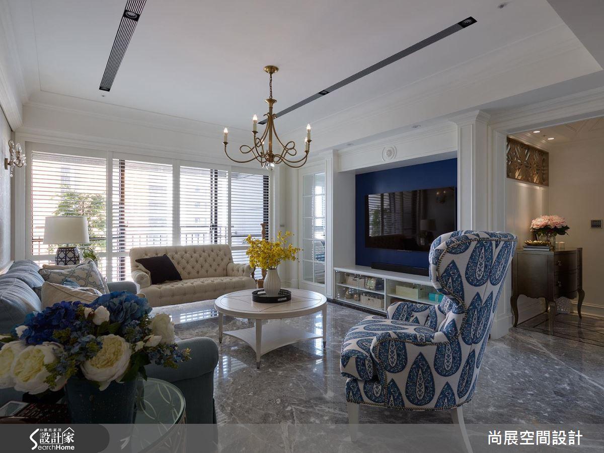 今年春夏最時尚的藍!就在美到不像樣的 75 坪美式風大宅