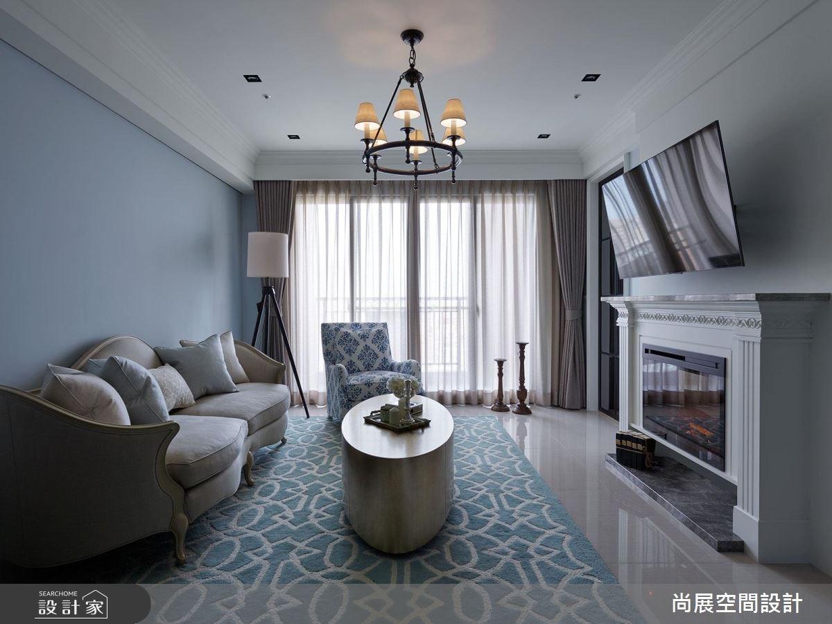 45坪新成屋(5年以下)_美式風客廳案例圖片_尚展空間設計_尚展_73之1