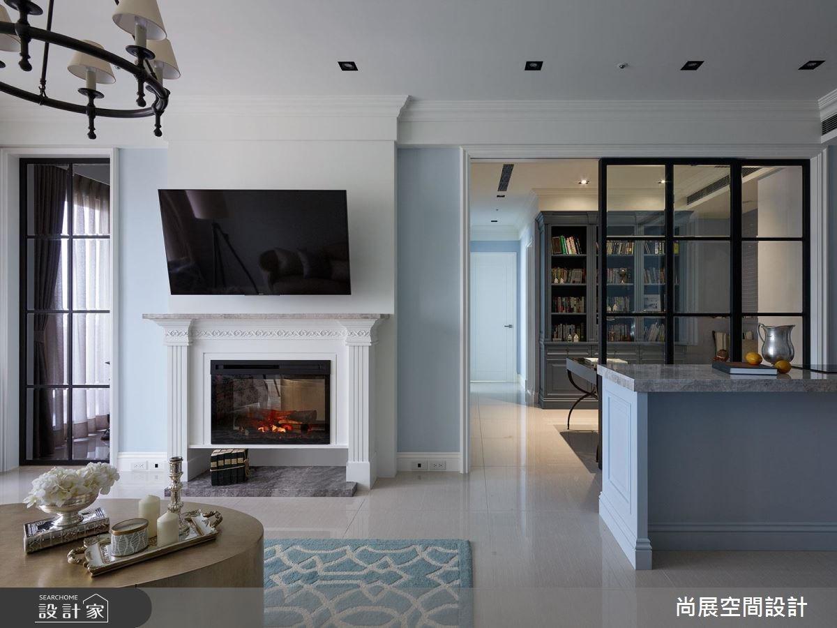 45坪新成屋(5年以下)_美式風客廳吧檯案例圖片_尚展空間設計_尚展_73之3