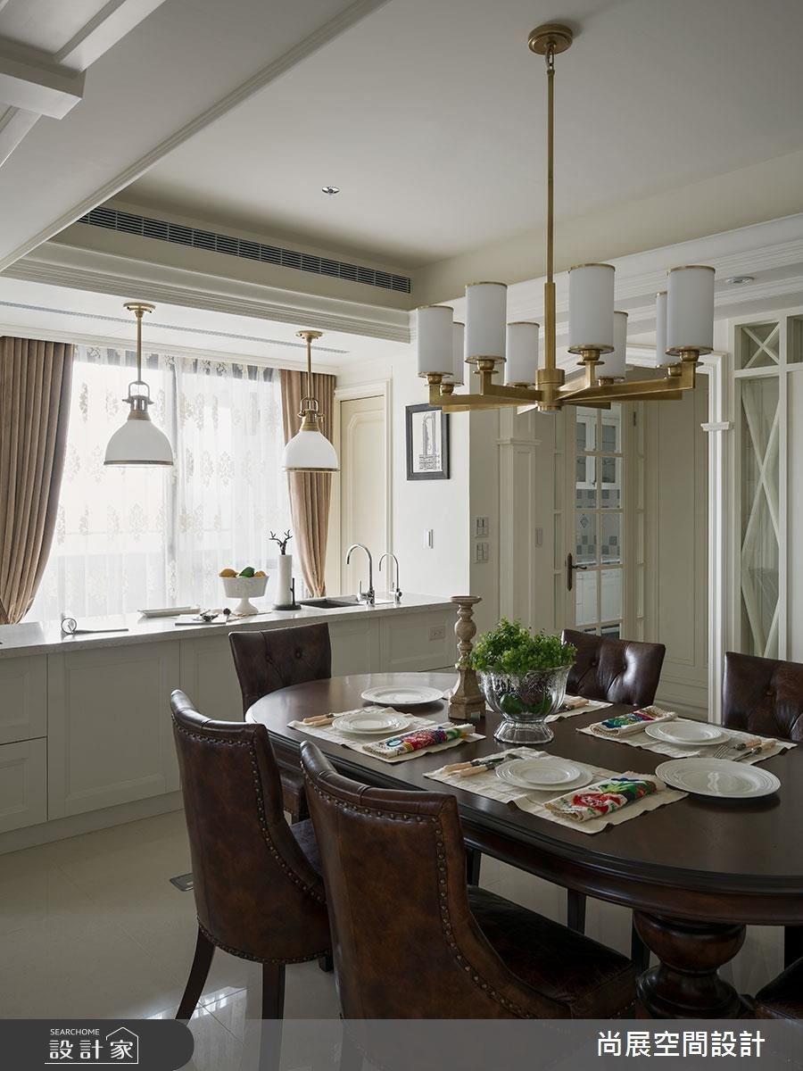 90坪新成屋(5年以下)_美式風餐廳案例圖片_尚展空間設計_尚展_77之4