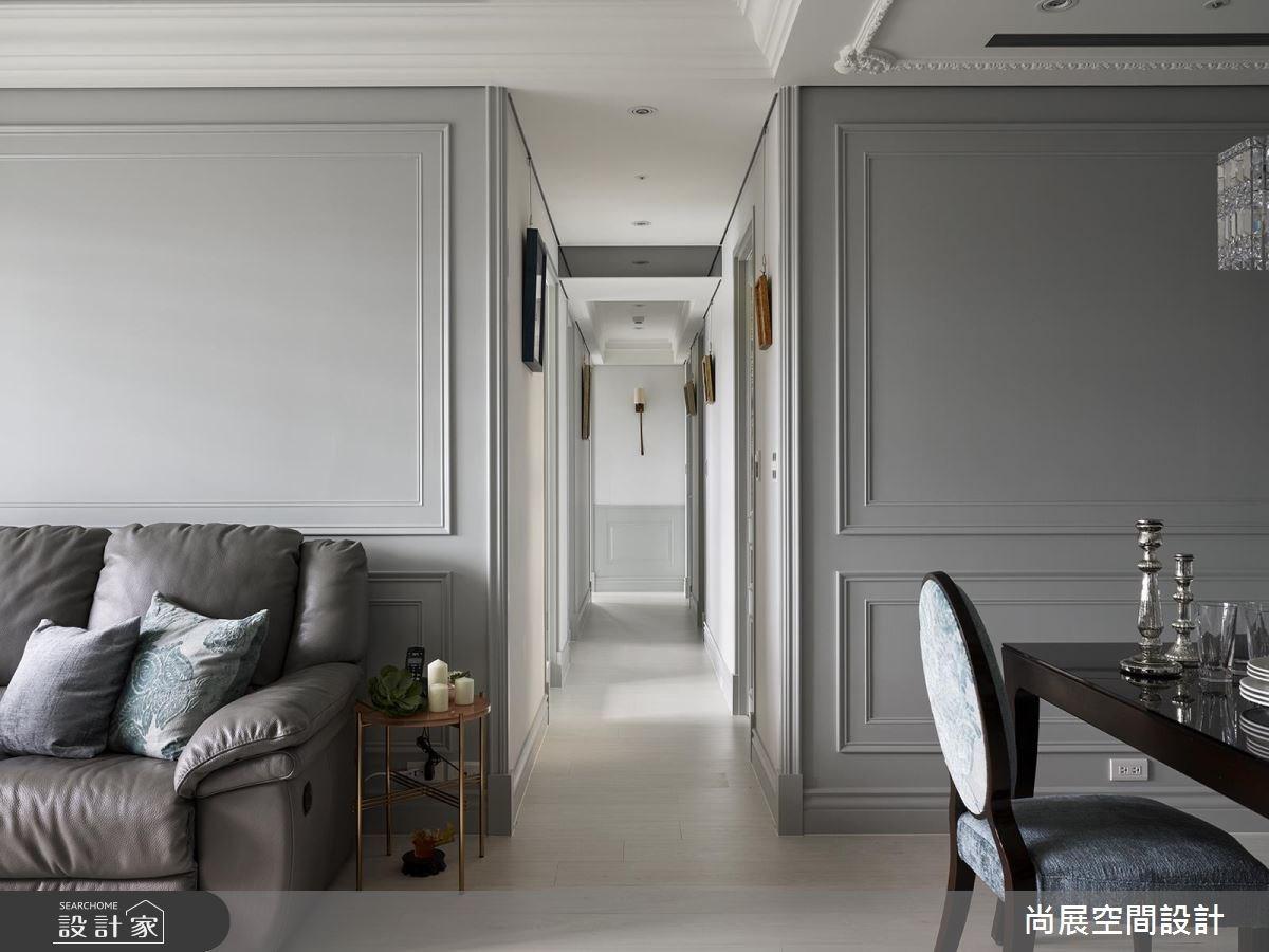 40坪預售屋_美式風客廳餐廳走廊案例圖片_尚展空間設計_尚展_83之3