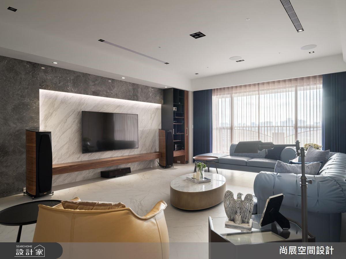 120坪預售屋_現代風客廳案例圖片_尚展空間設計_尚展_87之3