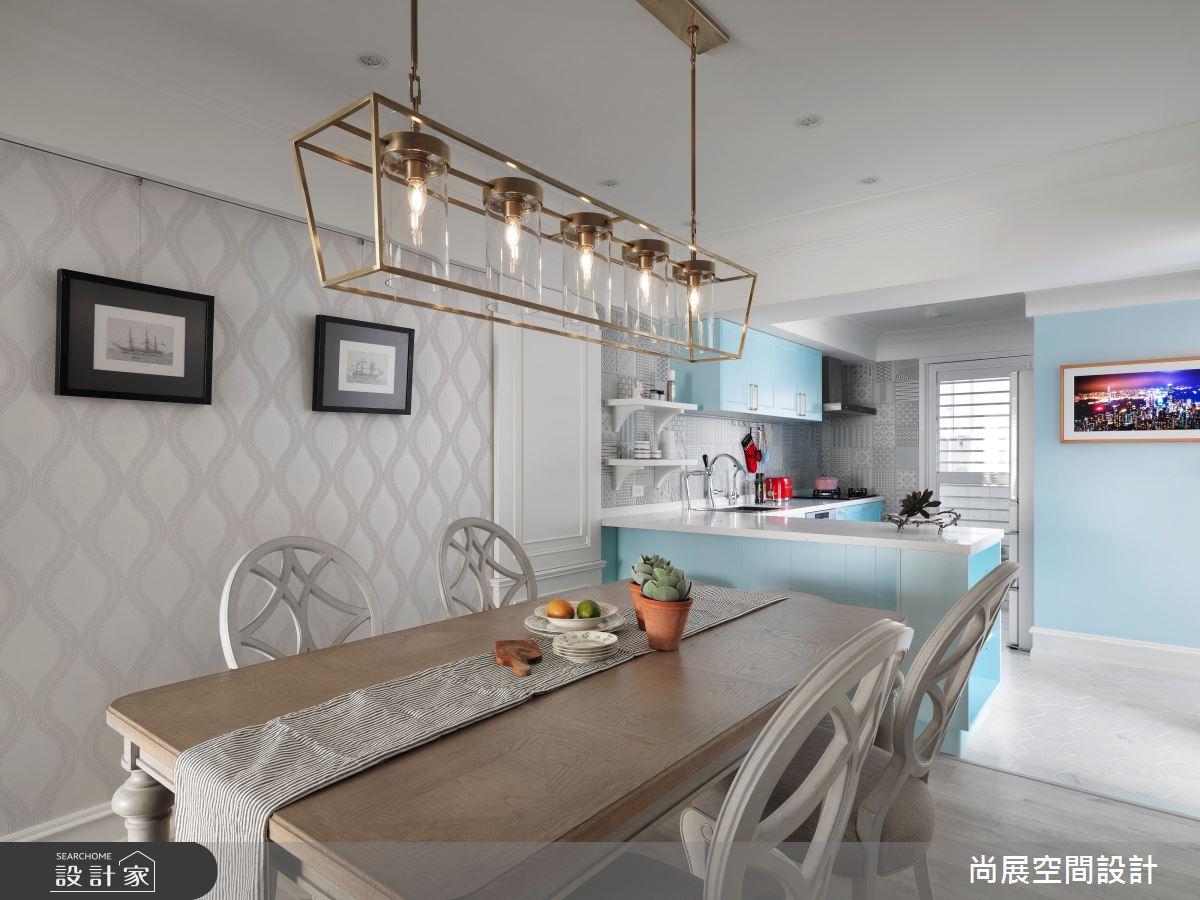35坪老屋(16~30年)_美式風餐廳廚房吧檯案例圖片_尚展空間設計_尚展_96之8