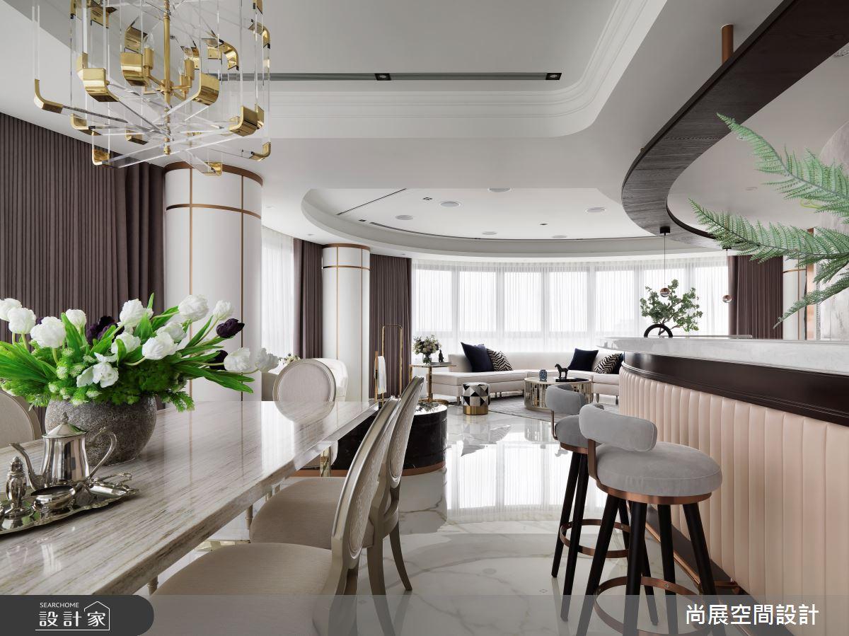 110坪新成屋(5年以下)_新古典餐廳吧檯案例圖片_尚展空間設計_尚展_97之3