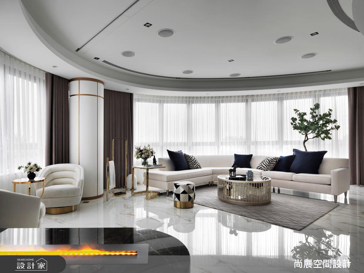 110坪新成屋(5年以下)_新古典客廳案例圖片_尚展空間設計_尚展_97之5