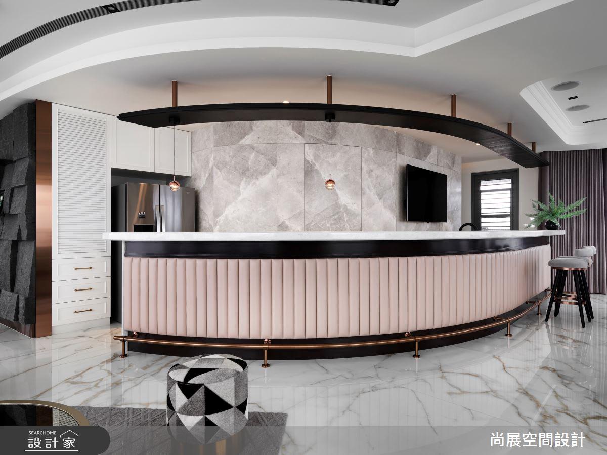 110坪新成屋(5年以下)_新古典吧檯案例圖片_尚展空間設計_尚展_97之2