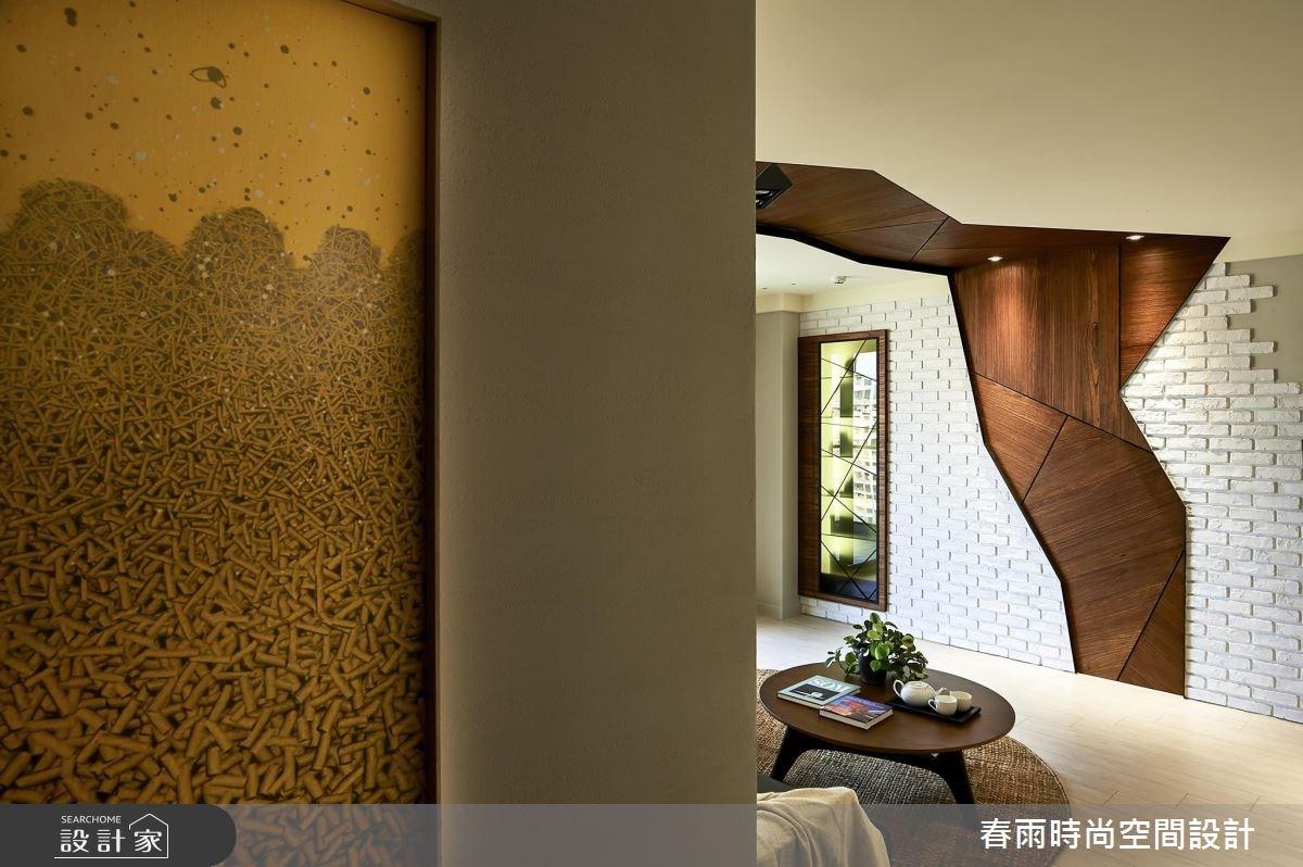 36坪新成屋(5年以下)_休閒風客廳案例圖片_春雨設計_春雨_01之1